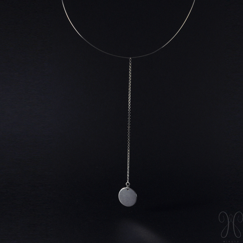 collier argent wiroth medaillon